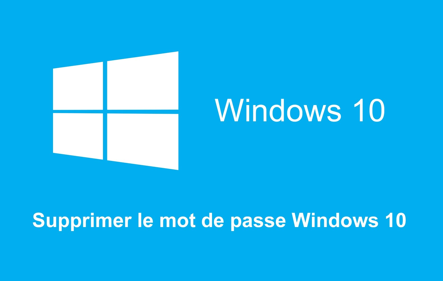 mot de passe windows 10