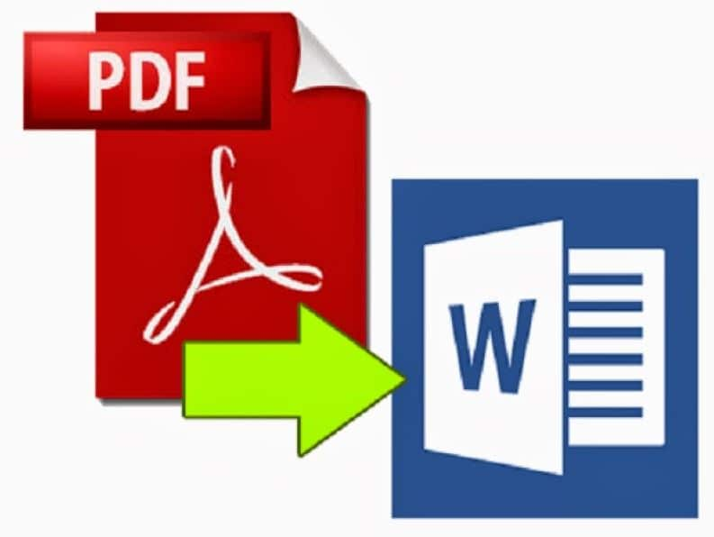 comment convertir un fichier pdf en document word ou texte modifiable