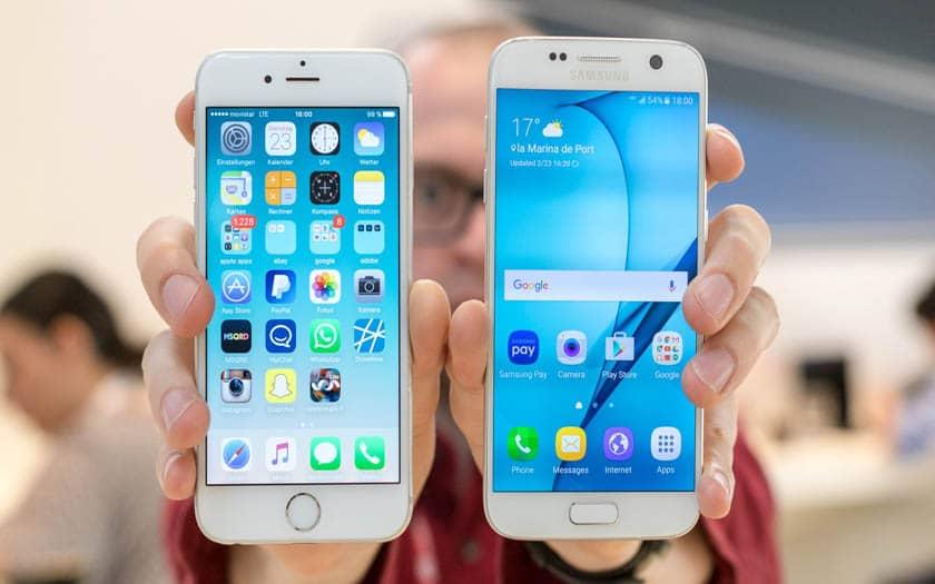 samsung galaxy s7 apple iphone-6samsung galaxy s7 apple iphone 6