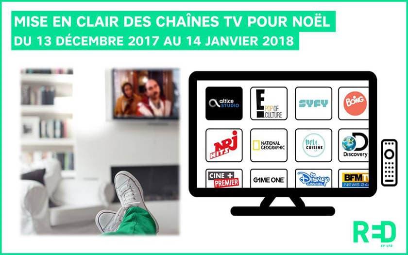 dessin animé noel 2018 tv SFR : 120 chaînes TV en clair dont Altice Studio et Disney Channel  dessin animé noel 2018 tv