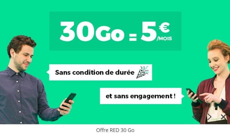 sfr red 30 go à 5 euros par mois a vie sur showroomprivee.com