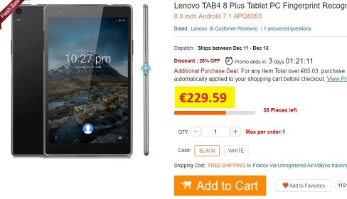 tablette lenovo tab 4 plus