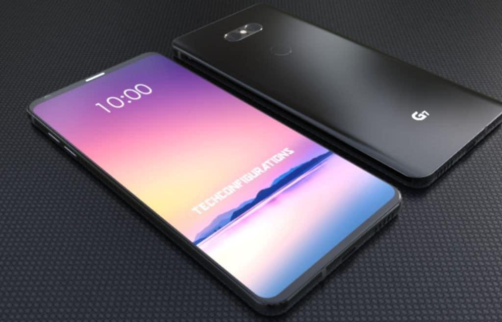 LG G7 rendu design borderless