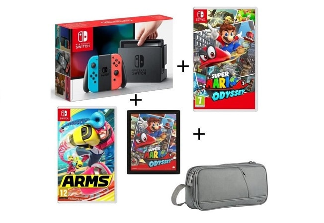 pack nintendo switch soldes hiver 2018 cdiscount