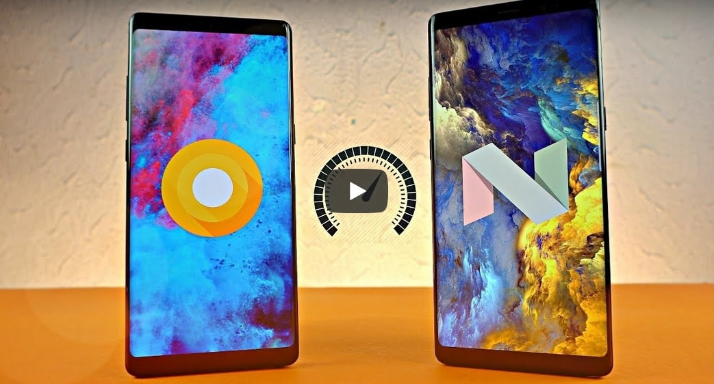 galaxy note 8 oreo vs nougat speed test vidéo