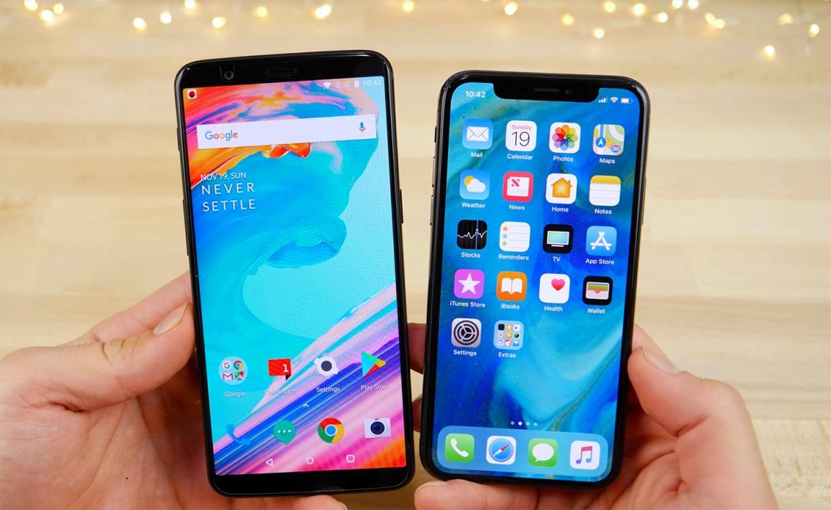 iphone x oneplus 5t
