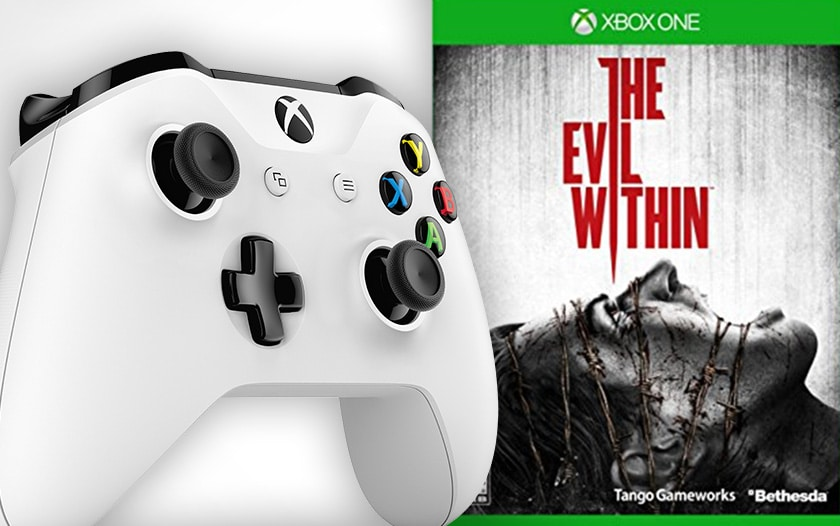 manette xbox evil within soldes hiver 2018