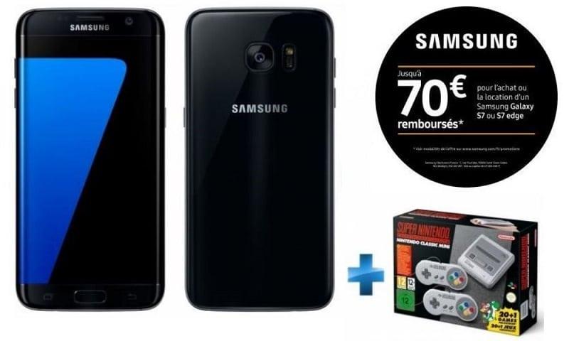 samsung galaxy s7 edge + nintendo classic mini