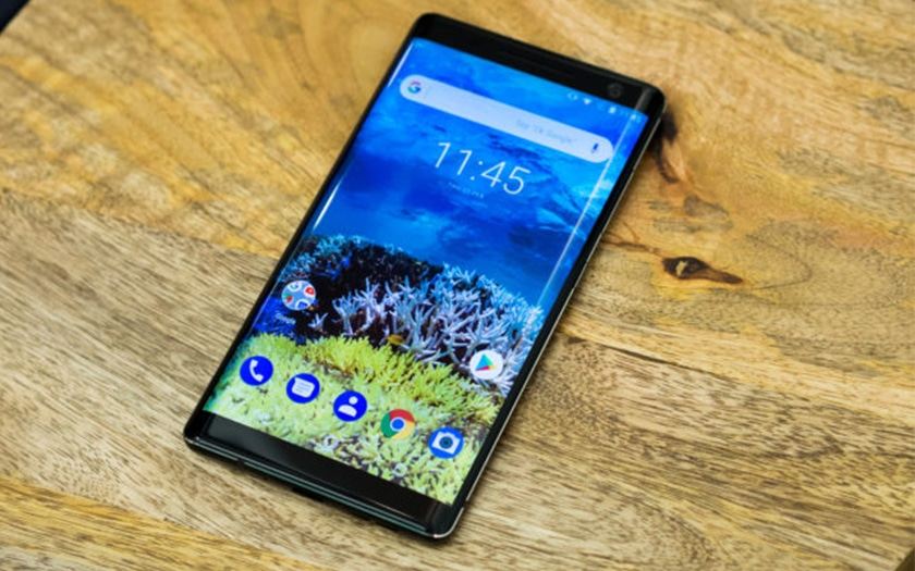 nokia 8 sirocco officiel android one double capteur photo et recharge sans fil pour 749. Black Bedroom Furniture Sets. Home Design Ideas
