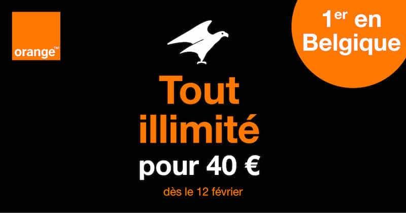 orange belgique forfait illimité