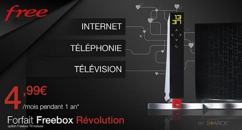 Vente privée abonnement internet Freebox Revolution