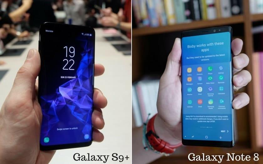 Galaxy S9+ VS Galaxy Note 8