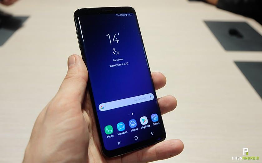 Prise en main design du Galaxy S9