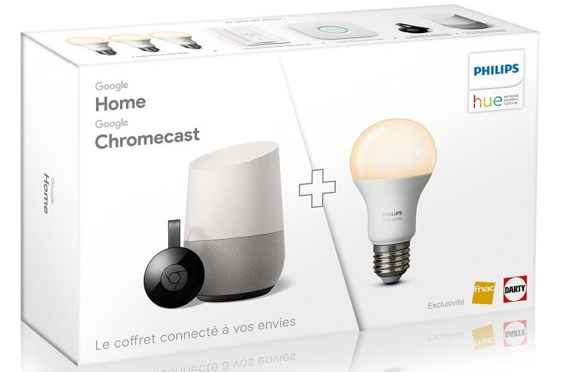 google pack home chromecast moins cher à 199 € chez darty