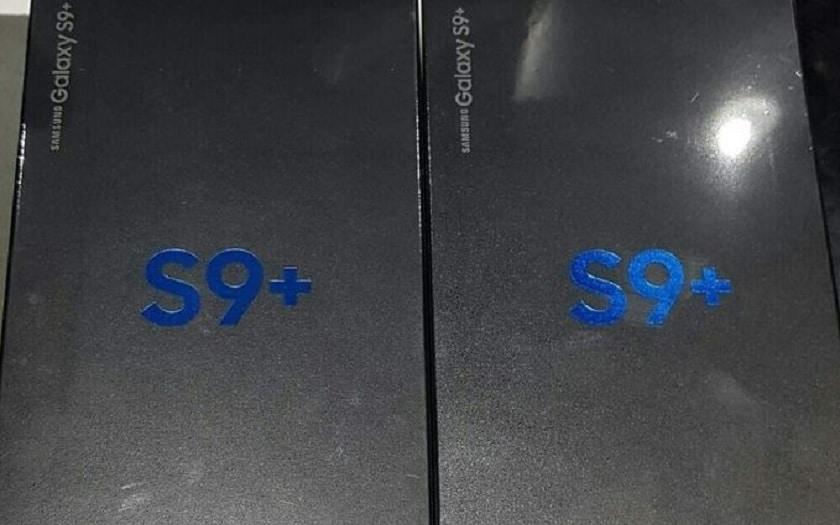 Samsung Galaxy S9+ boîte