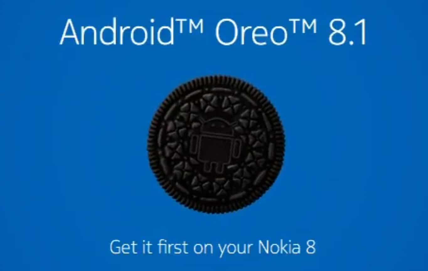 nokia 8 mise a jour android 8.1 oreo