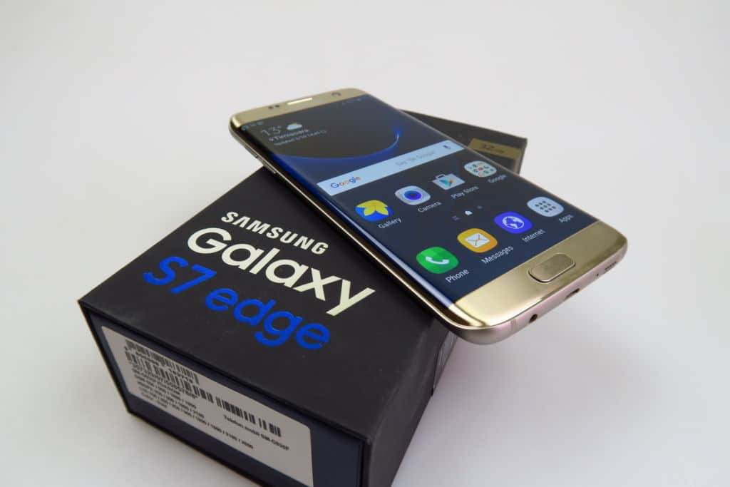 samsung galaxy S7 edge android oreo