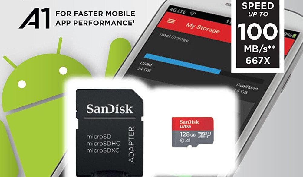 sandisk carte sd 128 go