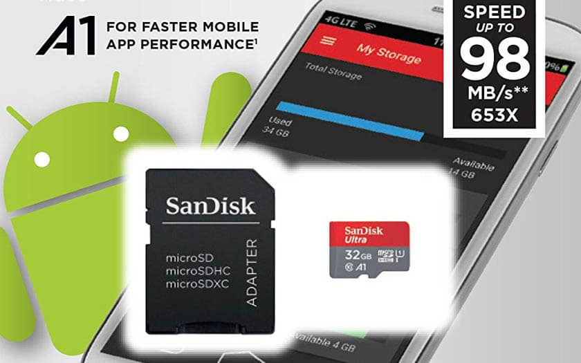 sandisk carte sd 32 go