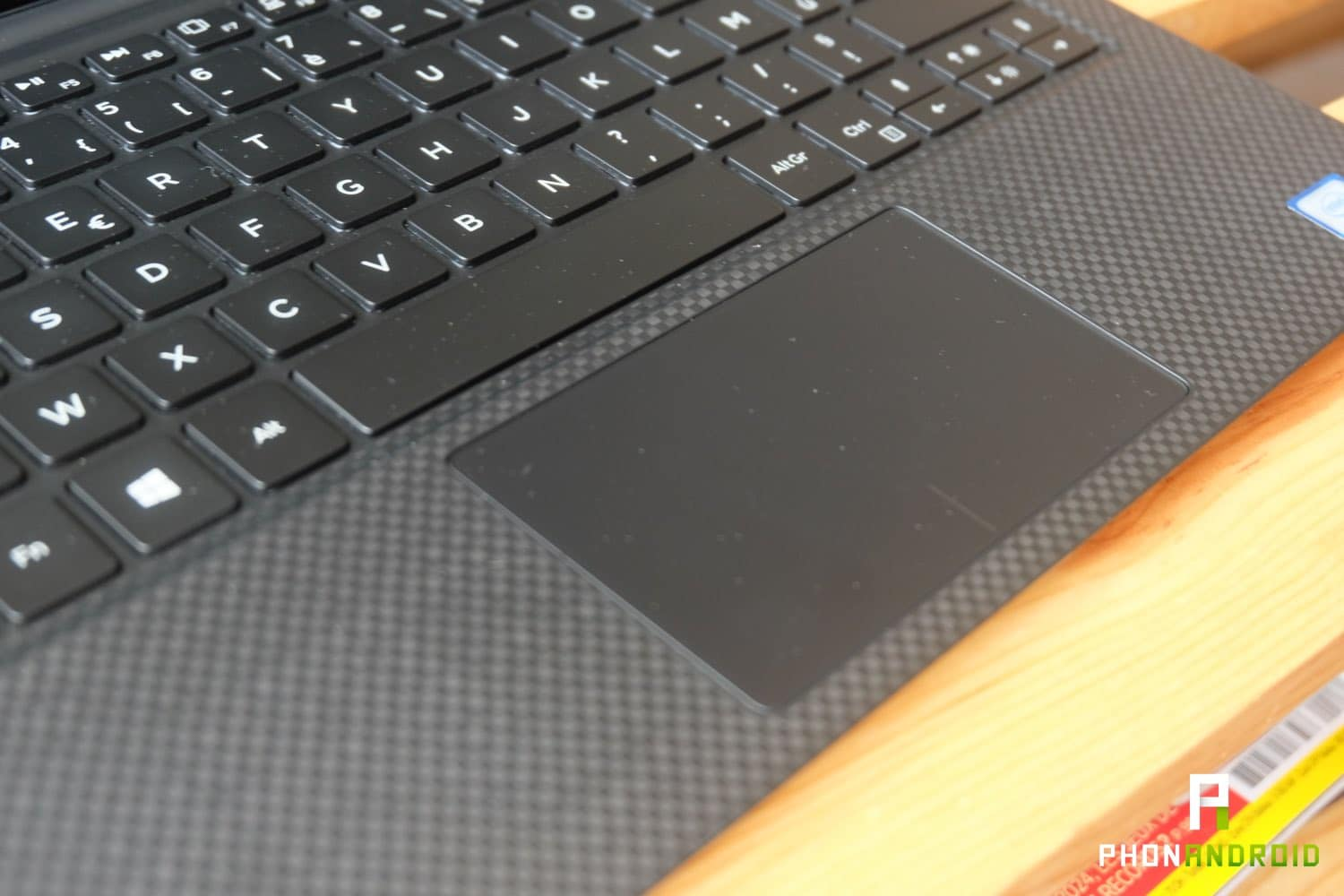test dell xps 13 2018 trackpad clavier