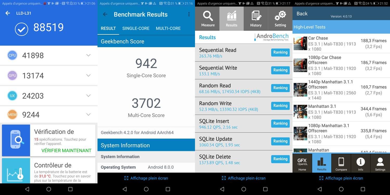 test honor 9 lite benchmarks