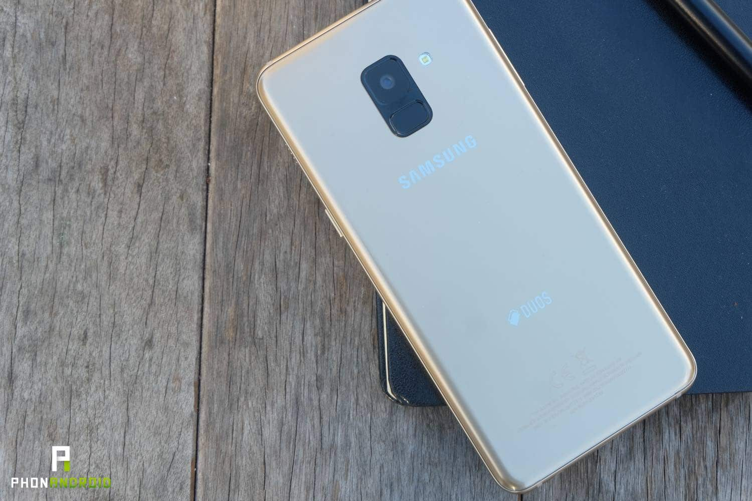 test samsung galaxy a8 design dos