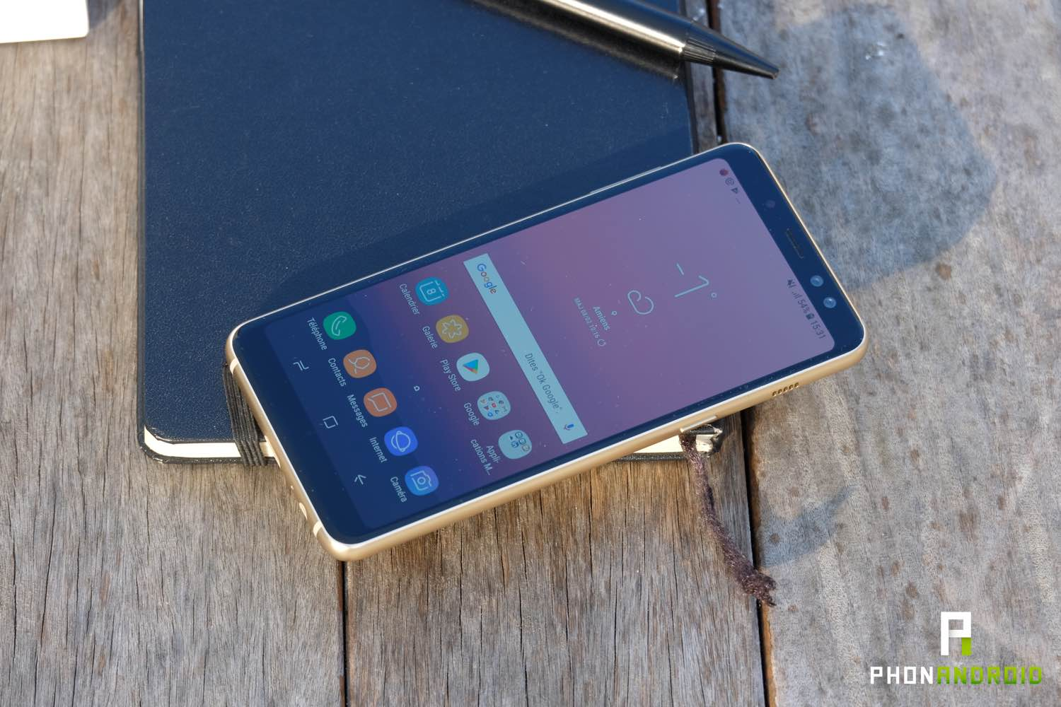 test samsung galaxy a8 ecran