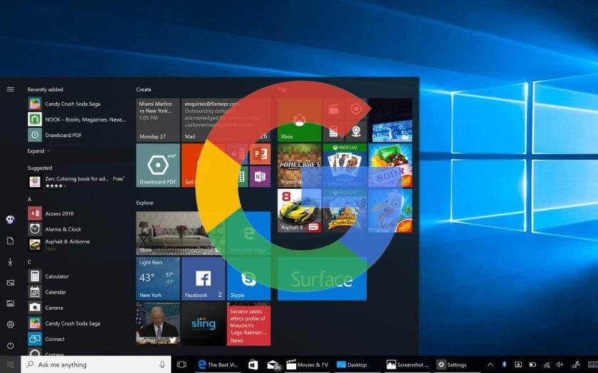 windows 10 google zero