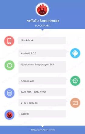 "Xiaomi ""Blackshark"" benchmark AnTuTu"