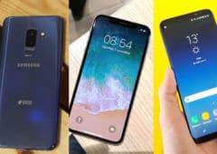Galaxy S9 iphonex S8