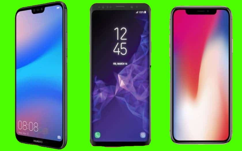 Huawei P20 Pro Galaxy S9 iPhone X