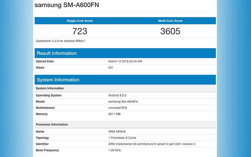 galaxy A6 benchmark