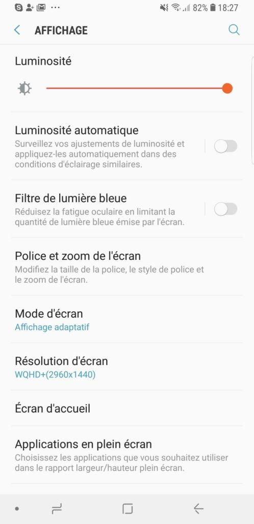 galaxy s9 resolution ecran