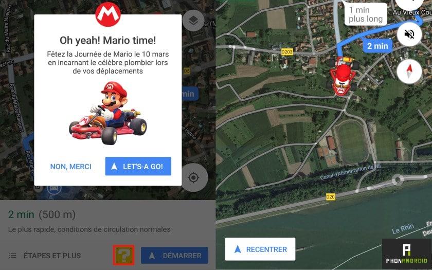 google maps mario interface