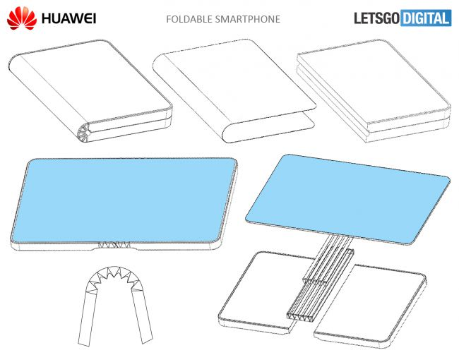 huawei smartphone pliable