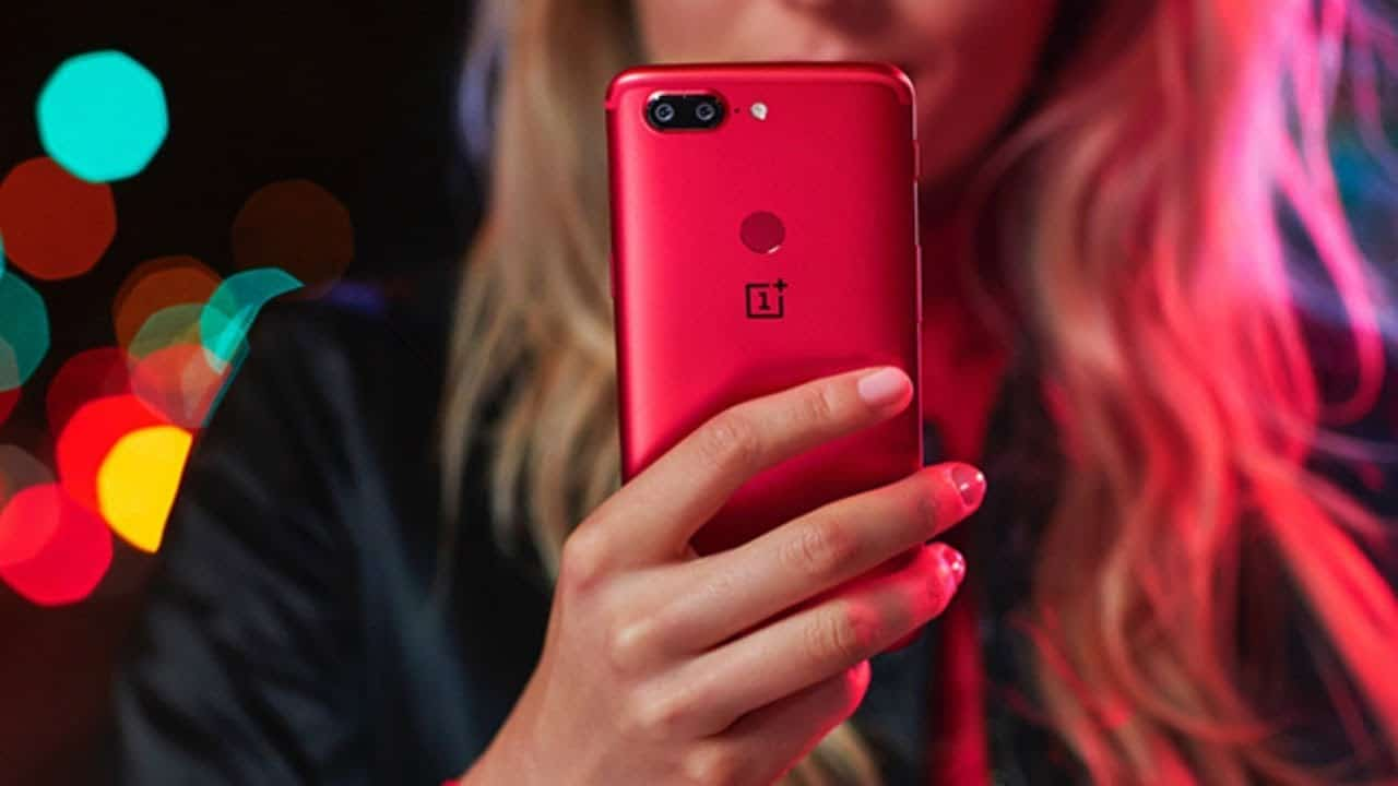 oneplus 5t lave rouge