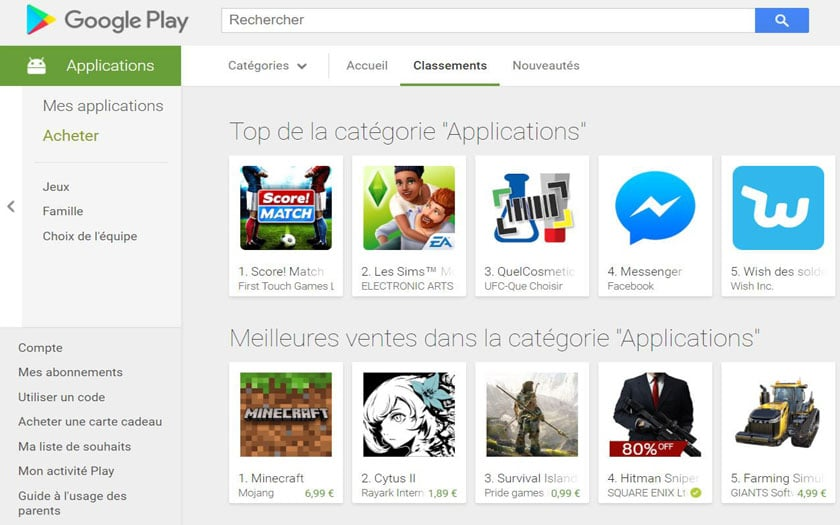 play store applications