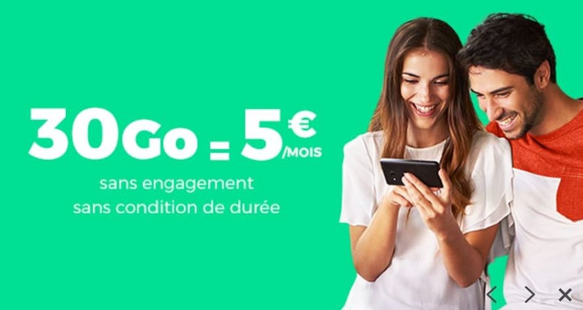 forfait sfr red 30 go à 5 € showroomprivée