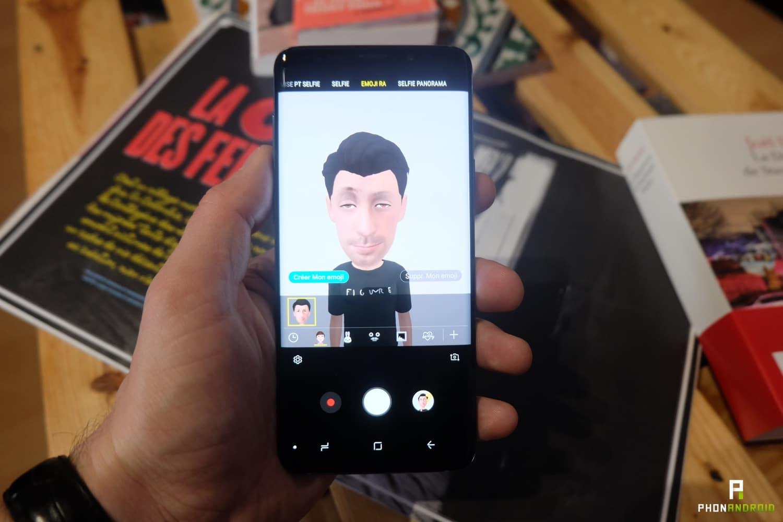 test samsung galaxy s9 plus emojis ar