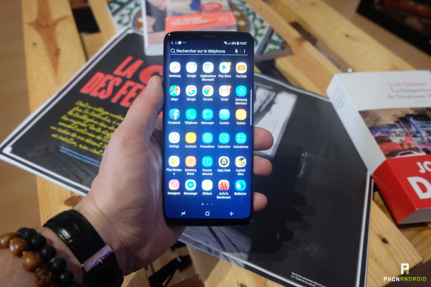 test samsung galaxy s9 plus interface