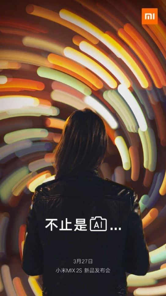 xiaomi mi mix 2s image teasing appareil photo