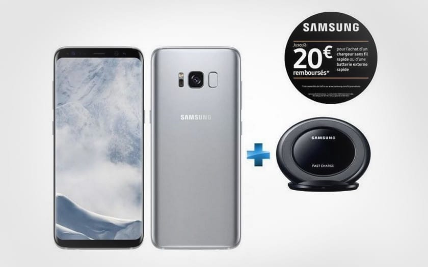 French Days Samsung smartphone Galaxy S8 plus Chargeur a induction