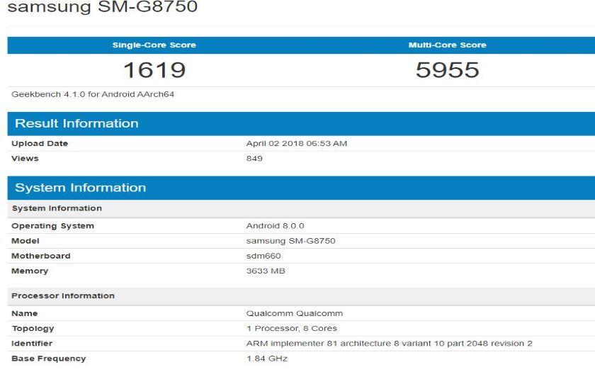 Galaxy S9 mini benchmark fiche technique
