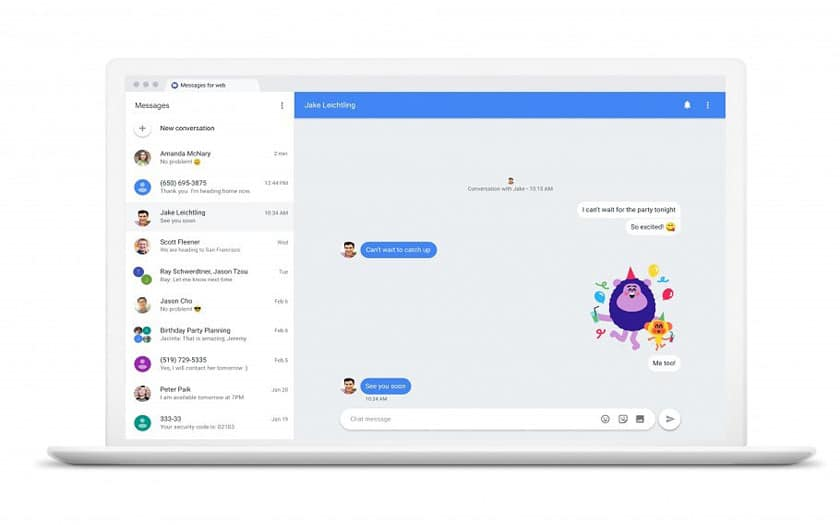 android messages pc
