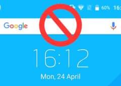 comment supprimer barre recherche google