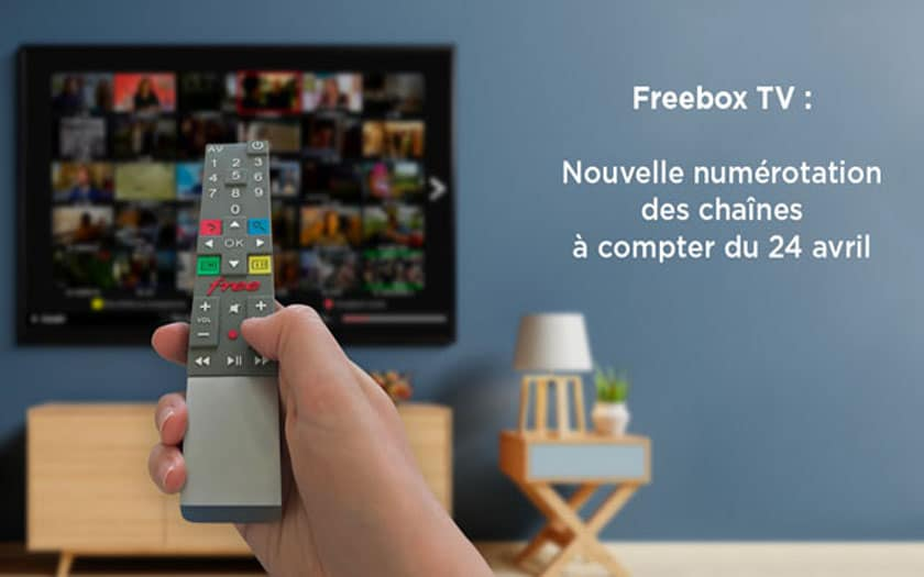 freebox numerotation chaines tv