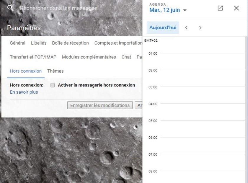 gmail agenda