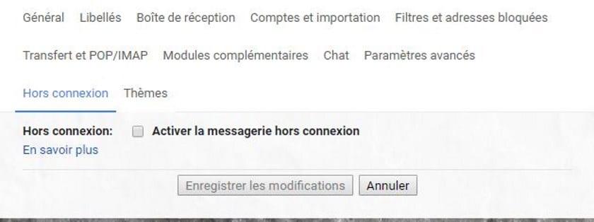 gmail mode hors ligne