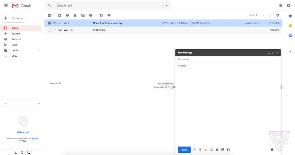 interface gmail