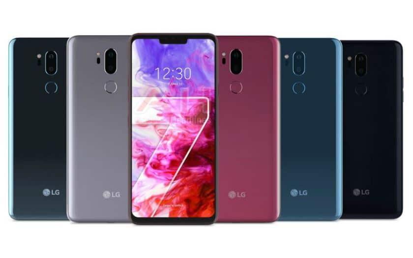 lg g7 thinq 5 coloris rendu presse officiel